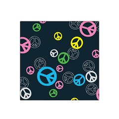 Peace & Love Pattern Satin Bandana Scarf