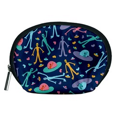 Alien Pattern Blue Accessory Pouches (Medium)