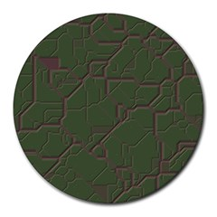 Alien Wires Texture Round Mousepads