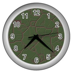 Alien Wires Texture Wall Clocks (Silver)