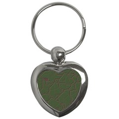Alien Wires Texture Key Chains (heart)