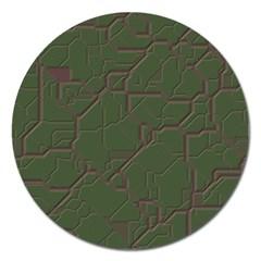 Alien Wires Texture Magnet 5  (Round)