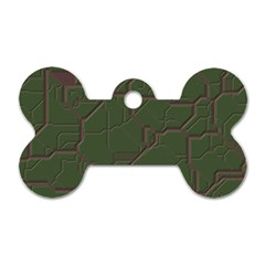 Alien Wires Texture Dog Tag Bone (Two Sides)