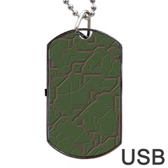 Alien Wires Texture Dog Tag Usb Flash (one Side)