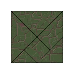 Alien Wires Texture Acrylic Tangram Puzzle (4  X 4 )
