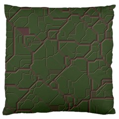 Alien Wires Texture Large Cushion Case (two Sides)