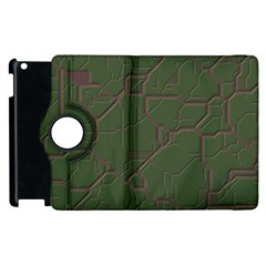 Alien Wires Texture Apple Ipad 2 Flip 360 Case
