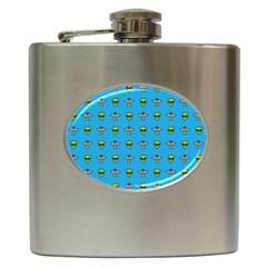 Alien Pattern Hip Flask (6 Oz)
