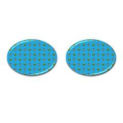 Alien Pattern Cufflinks (oval)