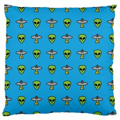 Alien Pattern Large Flano Cushion Case (one Side)