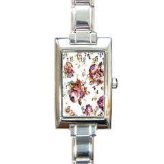Texture Pattern Fabric Design Rectangle Italian Charm Watch