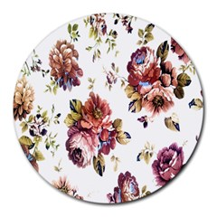 Texture Pattern Fabric Design Round Mousepads