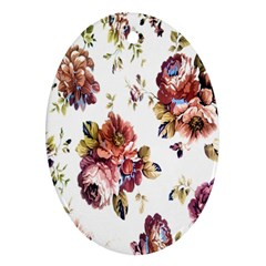 Texture Pattern Fabric Design Ornament (oval)
