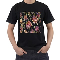 Texture Pattern Fabric Design Men s T Shirt (black) (two Sided)