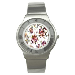 Texture Pattern Fabric Design Stainless Steel Watch