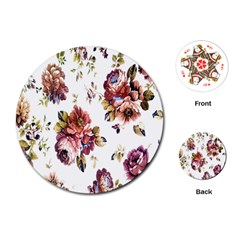 Texture Pattern Fabric Design Playing Cards (round)