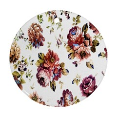 Texture Pattern Fabric Design Round Ornament (Two Sides)