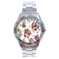 Texture Pattern Fabric Design Stainless Steel Analogue Watch