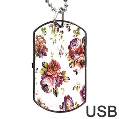 Texture Pattern Fabric Design Dog Tag Usb Flash (two Sides)