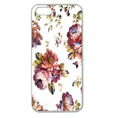 Texture Pattern Fabric Design Apple Seamless iPhone 5 Case (Clear)
