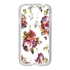 Texture Pattern Fabric Design Samsung GALAXY S4 I9500/ I9505 Case (White)