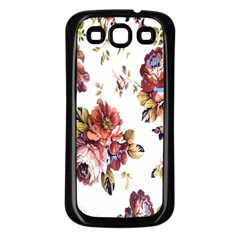 Texture Pattern Fabric Design Samsung Galaxy S3 Back Case (black)