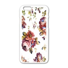 Texture Pattern Fabric Design Apple Iphone 6/6s White Enamel Case