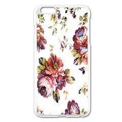 Texture Pattern Fabric Design Apple Iphone 6 Plus/6s Plus Enamel White Case