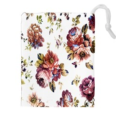 Texture Pattern Fabric Design Drawstring Pouches (XXL)