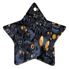 Monster Cover Pattern Ornament (Star)