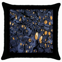Monster Cover Pattern Throw Pillow Case (Black)
