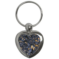 Monster Cover Pattern Key Chains (heart)