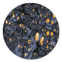 Monster Cover Pattern Magnet 5  (round)