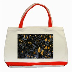 Monster Cover Pattern Classic Tote Bag (red)
