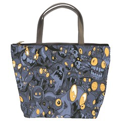 Monster Cover Pattern Bucket Bags