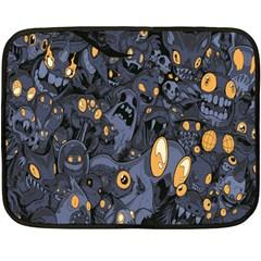 Monster Cover Pattern Double Sided Fleece Blanket (mini)