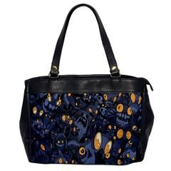 Monster Cover Pattern Office Handbags