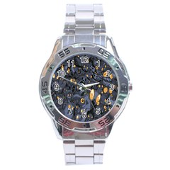Monster Cover Pattern Stainless Steel Analogue Watch