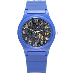 Monster Cover Pattern Round Plastic Sport Watch (s)