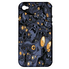 Monster Cover Pattern Apple Iphone 4/4s Hardshell Case (pc+silicone)
