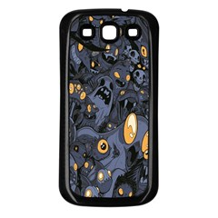 Monster Cover Pattern Samsung Galaxy S3 Back Case (Black)
