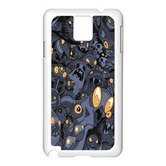Monster Cover Pattern Samsung Galaxy Note 3 N9005 Case (white)
