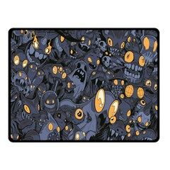 Monster Cover Pattern Double Sided Fleece Blanket (small)