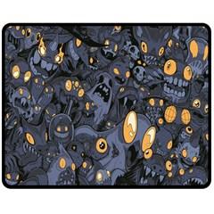 Monster Cover Pattern Double Sided Fleece Blanket (medium)