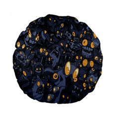 Monster Cover Pattern Standard 15  Premium Flano Round Cushions