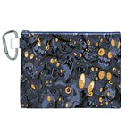Monster Cover Pattern Canvas Cosmetic Bag (XL) Front