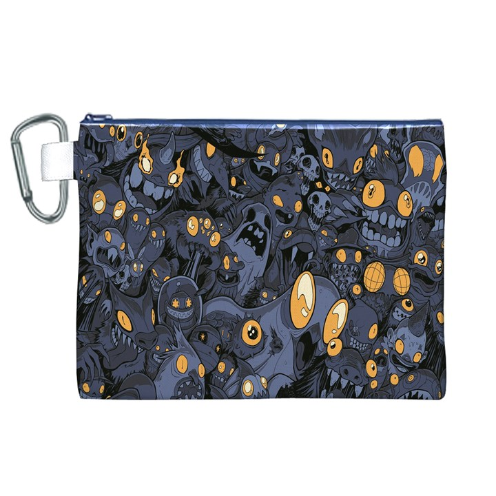Monster Cover Pattern Canvas Cosmetic Bag (XL)