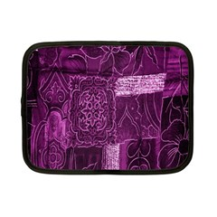 Purple Background Patchwork Flowers Netbook Case (small)