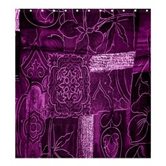 Purple Background Patchwork Flowers Shower Curtain 66  X 72  (large)