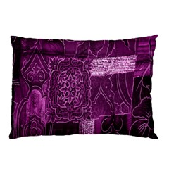 Purple Background Patchwork Flowers Pillow Case (two Sides)